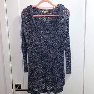 EUC American Eagle open knit hoodie beach sweater
